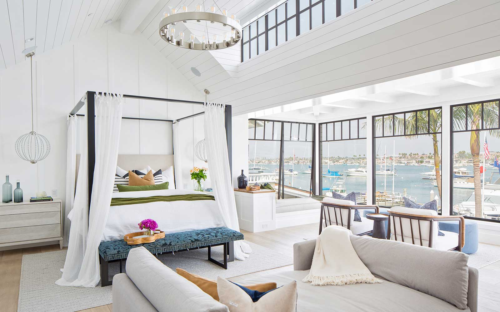 modern-beach-house-master-bedroom - Patterson Custom Homes